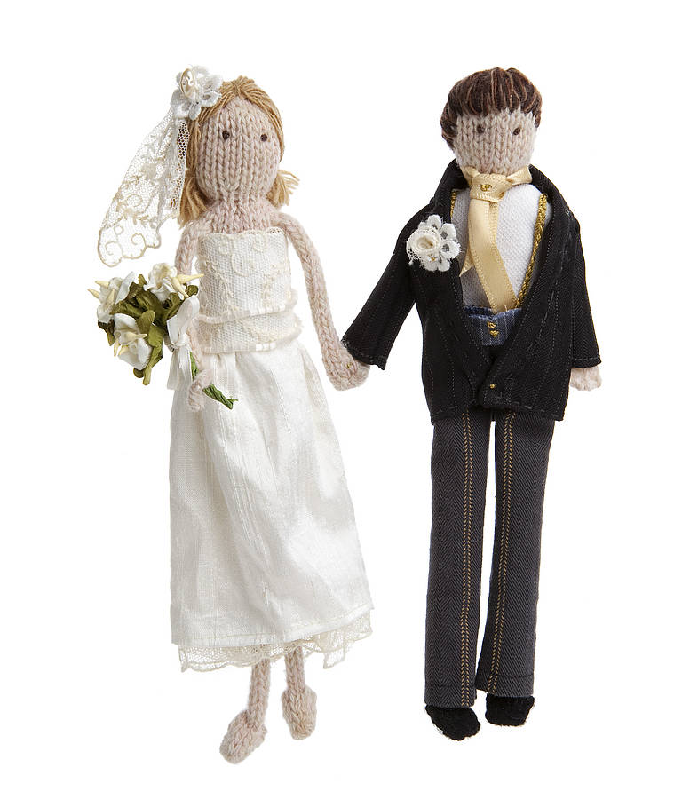 Personalised Bride And Groom Dolls By Laura Long