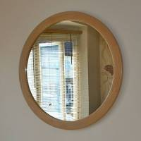 the big round oak mirror by wood paper scissors ...