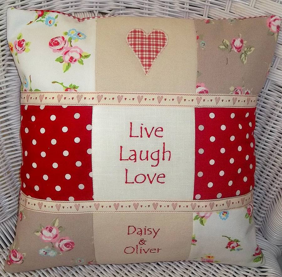 live laugh love cushion by tuppenny house designs