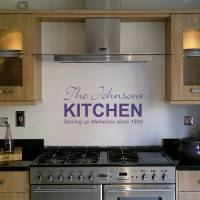 personalised kitchen wall sticker by nutmeg
