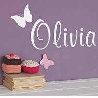 personalised butterfly wall sticker by nutmeg ...