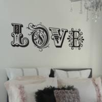 'love' wall sticker by nutmeg | notonthehighstreet.com