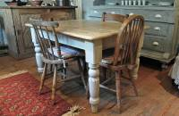 pine farmhouse kitchen table by distressed but not ...
