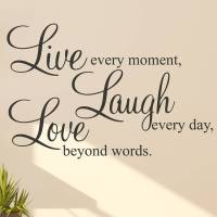 'live laugh love' wall stickers quotes by parkins