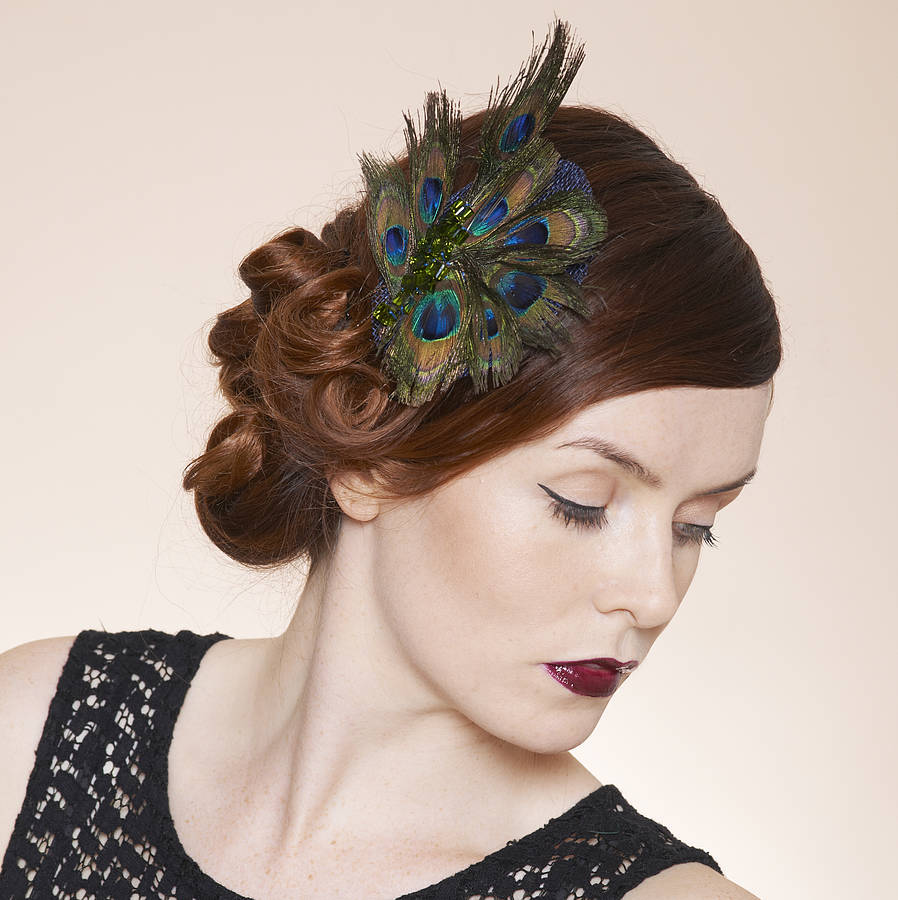 Peacock Fascinator By Glam Hatters