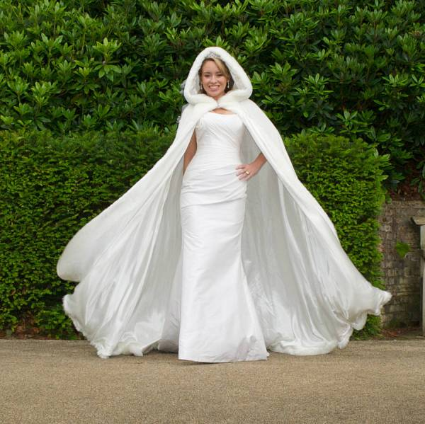 Hooded Bridal Cape With Faux Fur Hood Wonderful Wraps