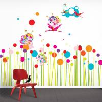 flower fairies wall stickers by funky little darlings ...