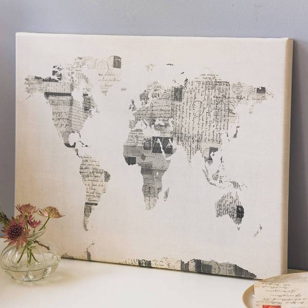 Vintage Postcard World Map