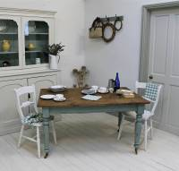 distressed painted pine kitchen table by distressed but ...