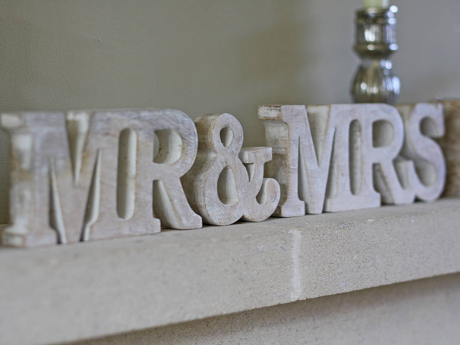 mr and mrs sign by the wedding of my dreams