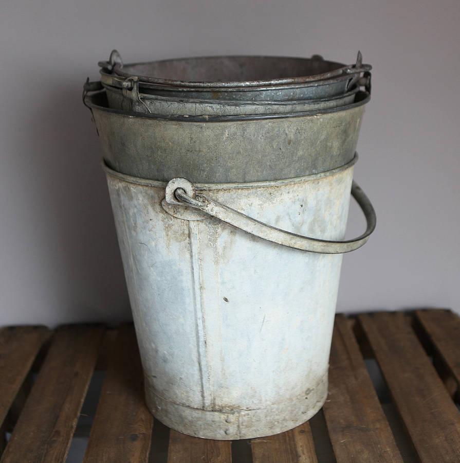 vintage metal bucket by homestead store