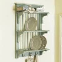 rustic wall plate rack with hooks by dibor ...