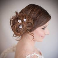 set of divinity wedding hair pins by chez bec
