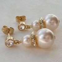 pearl drop earrings by katherine swaine ...