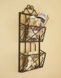 heart hanging iron magazine rack by dibor ...