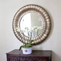 antique bronze round mirror by decorative mirrors online ...