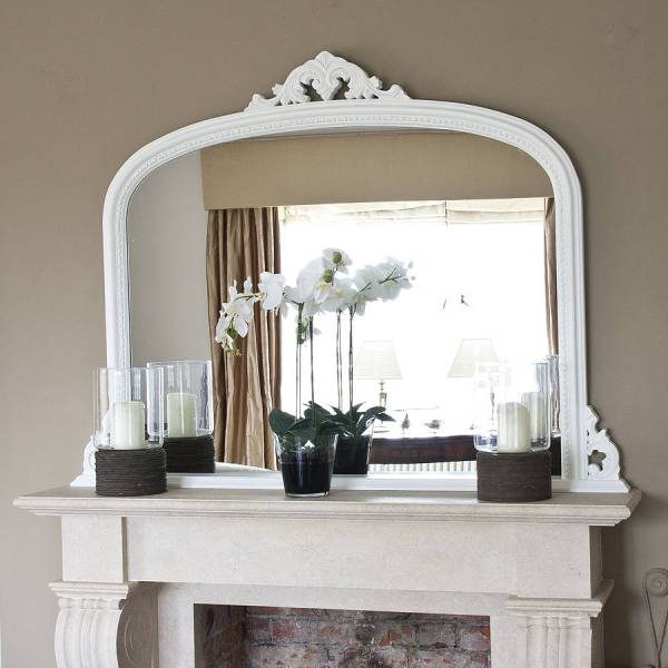 Fireplace Mantel with Mirror