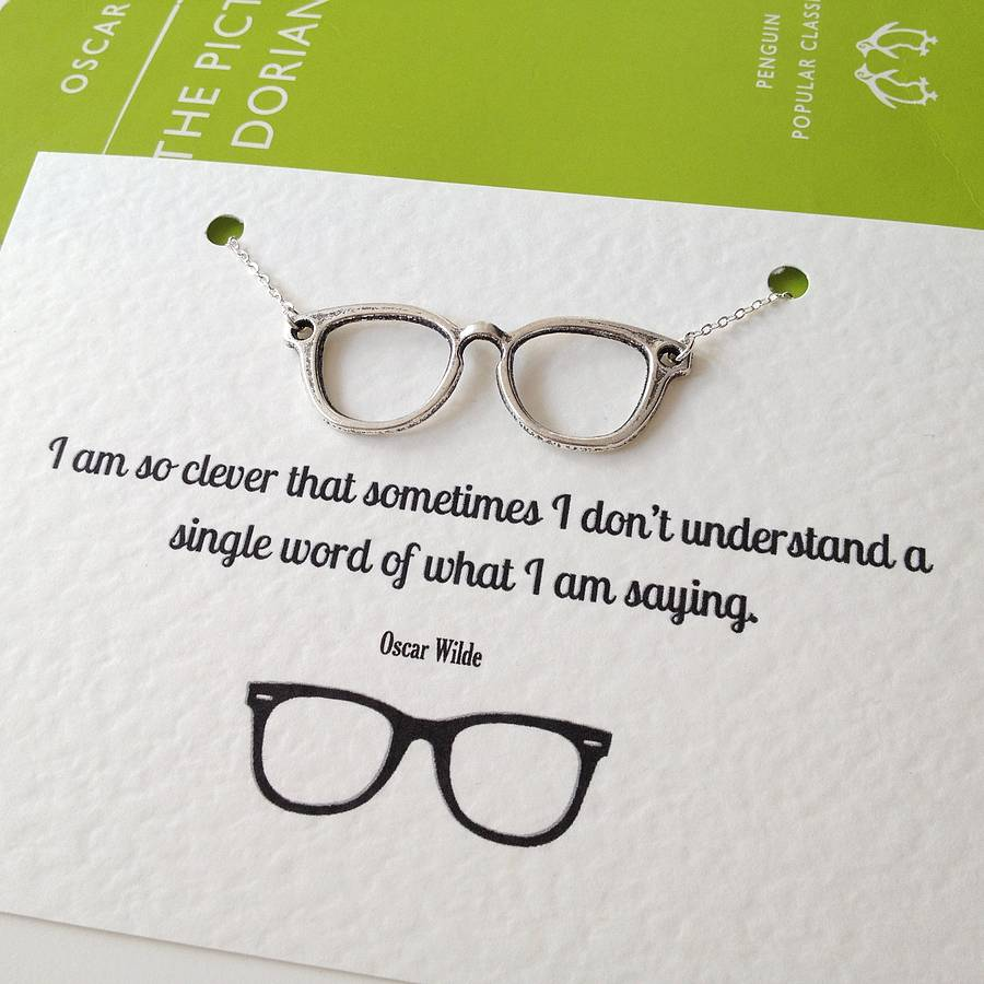 Jane Eyre Quote Wallpaper Oscar Wilde Geek Glasses Necklace By Literary Emporium
