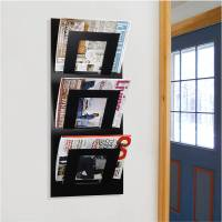 wall mounted three tier magazine rack by the metal house ...