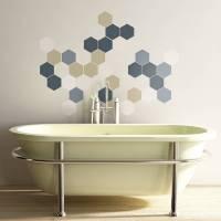geometric hexagons wall stickers by the binary box ...