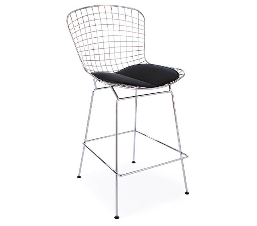 white mesh office chair uk ergonomic pillow bar stool in black or chrome retro modern style by ciel | notonthehighstreet.com
