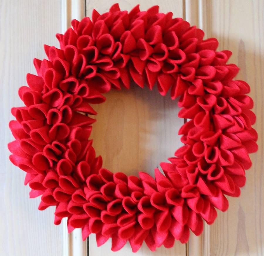 sandyapowell product christmas felt wreath