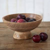 carved mango wood fruit bowl by paper high ...