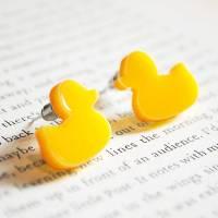 rubber duck earrings by onetenzeroseven ...