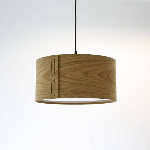 tab wood veneer light shade by john green | notonthehighstreet.com