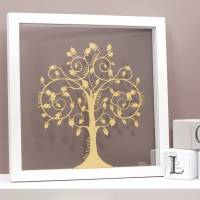 personalised papercut family tree wall art by urban twist ...