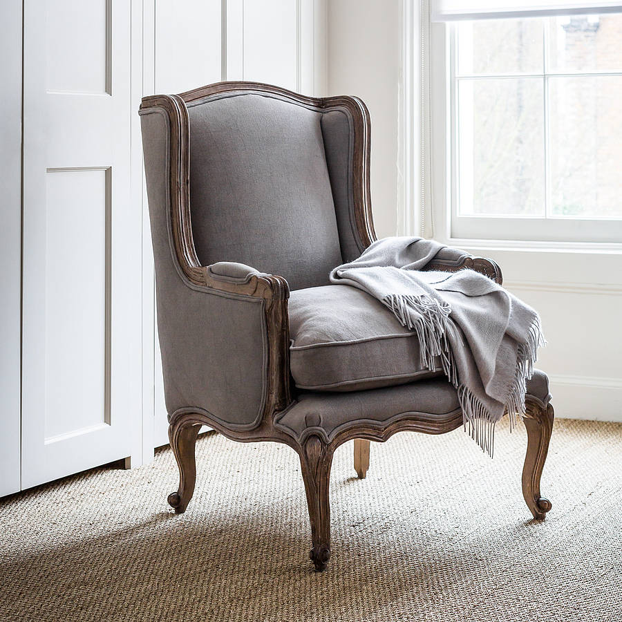 louis dove grey french armchair by within home