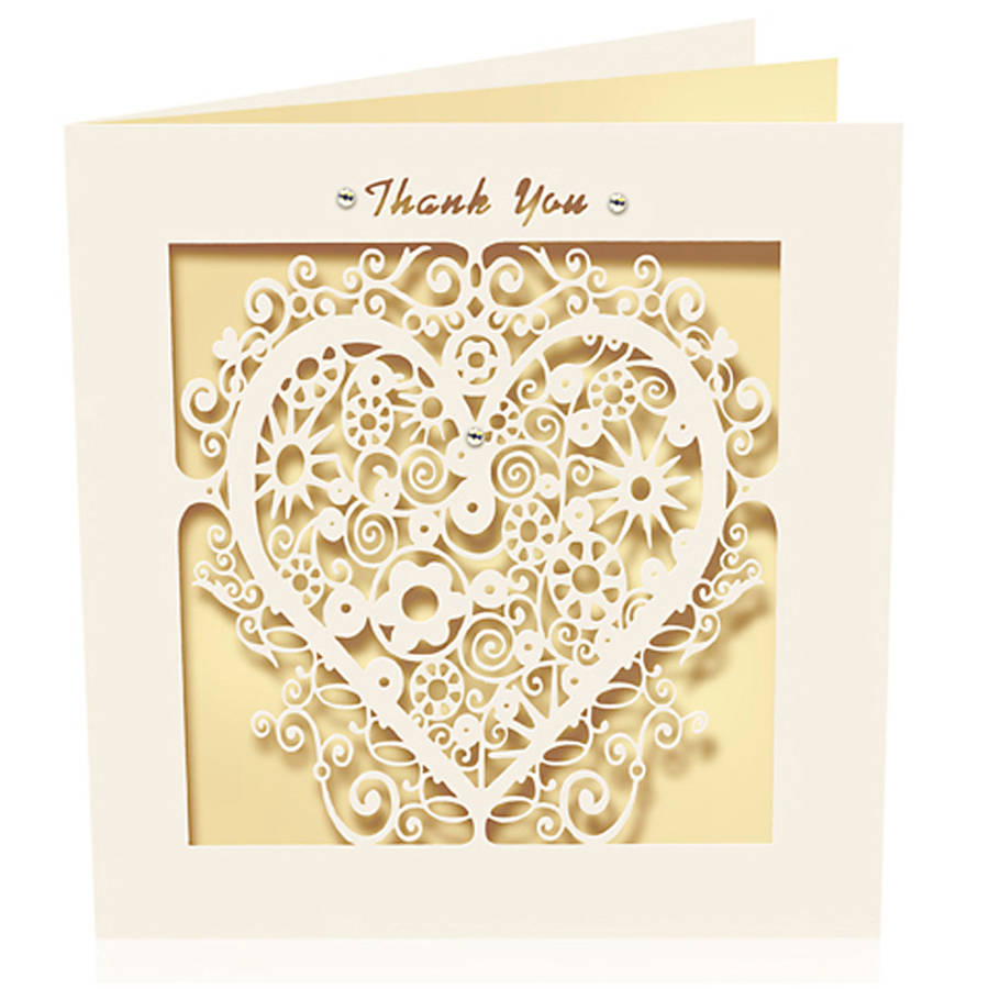 Personalised Laser Cut Wedding Cards