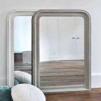 beaded wall mirror white or grey by primrose & plum ...