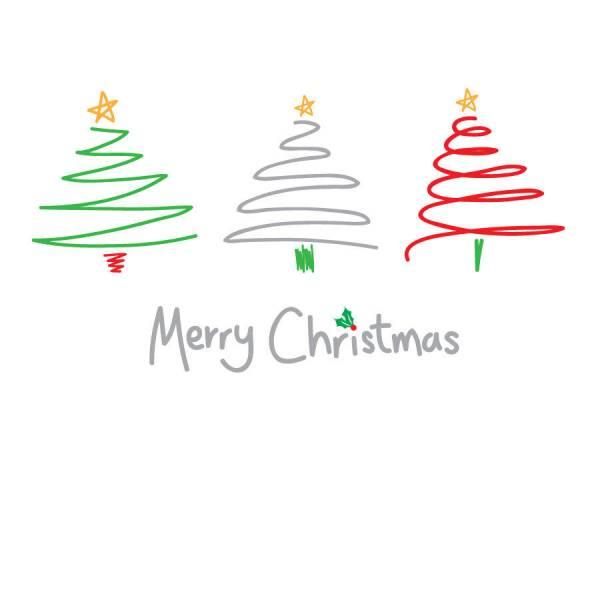 contemporary merry christmas card