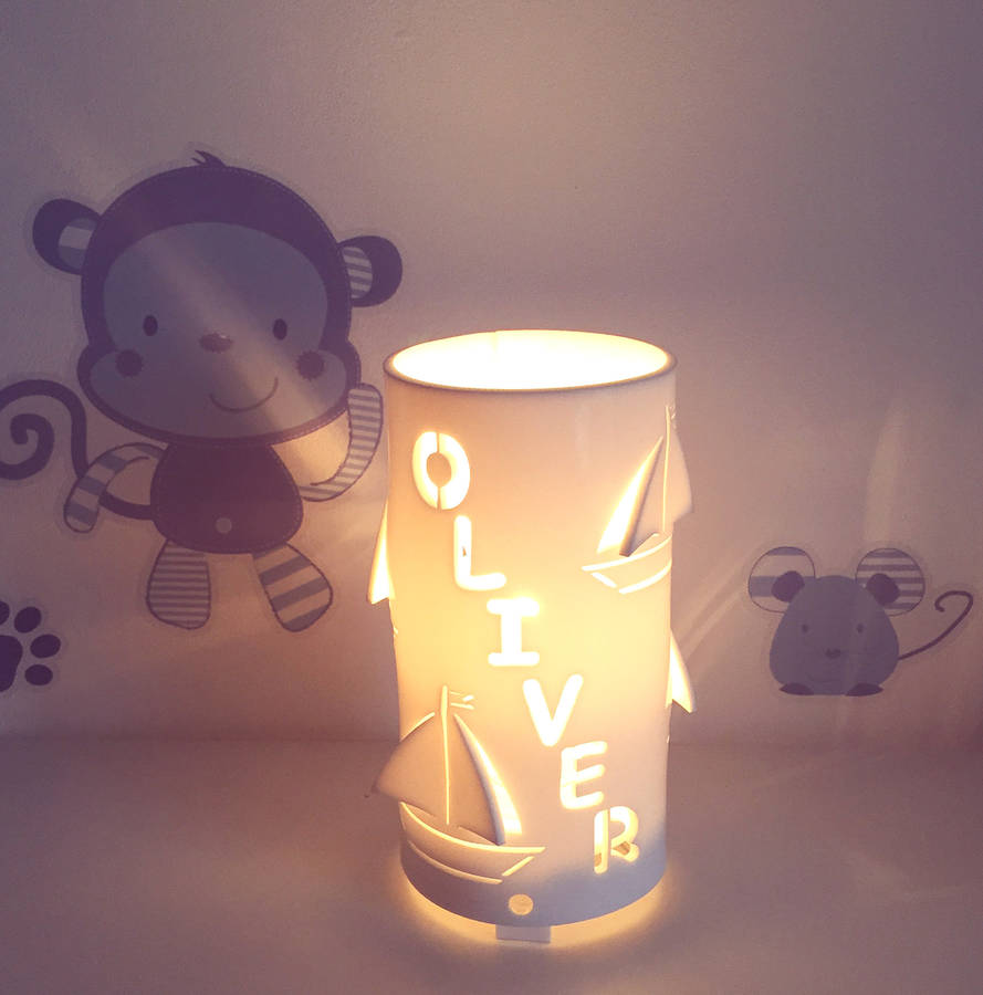 personalised boat night light by kirsty shaw