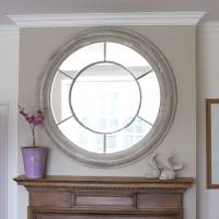 white washed round mirror by decorative mirrors online ...