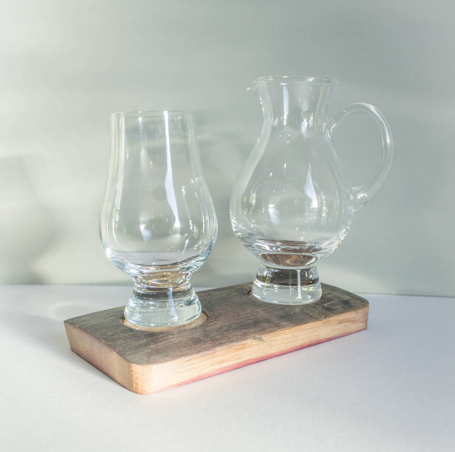 glencairn whisky glass and jug holder by wudwerx