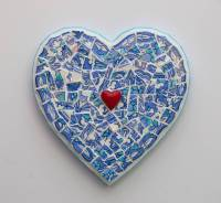 turquoise heart mosaic wall art by rana cullimore ...