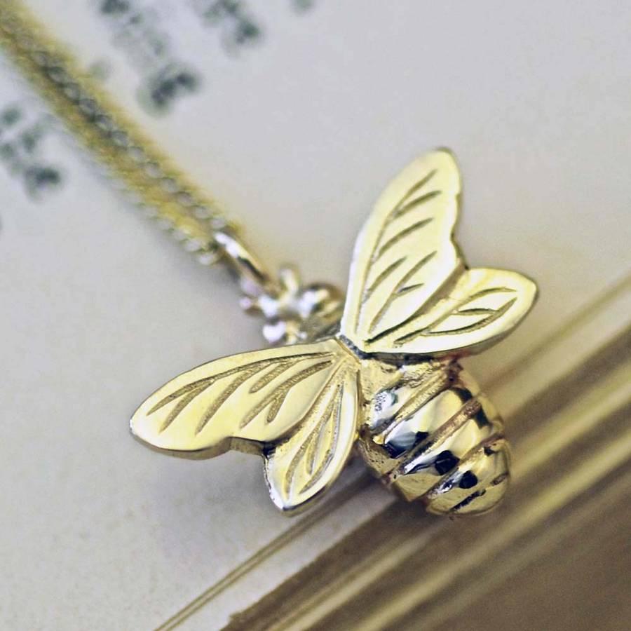 gold bee necklace by heather scott jewellery  notonthehighstreetcom
