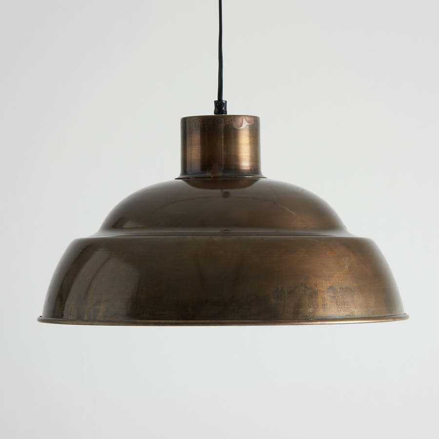 antique brass pendant lights by horsfall & wright