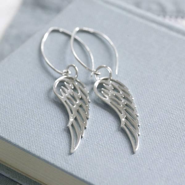 Sterling Silver Angel Wing Earrings Hurleyburley