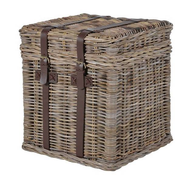 new england wicker basket bedside chest side table by ...