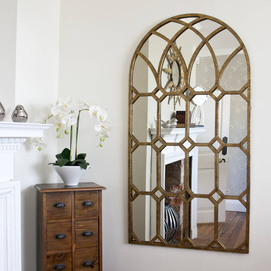 rustic gold metal window mirror by decorative mirrors