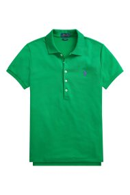 Polo Ralph Lauren γυναικεία μπλούζα Polo με χρωματιστό λογότυπο Slim Fit - 211505654015 - Πράσινο