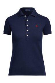 Polo Ralph Lauren γυναικεία μπλούζα Polo Slim Fit Stretch - 211505654111 - Μπλε Σκούρο
