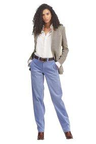 Polo Ralph Lauren γυναικείο παντελόνι κοτλέ Straight fit - 211759965002 - Μπλε