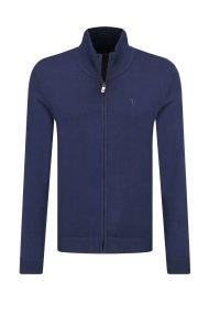 Trussardi Jeans ανδρική πλεκτή ζακέτα με φερμουάρ - 52M00278-0F000433 - Μπλε