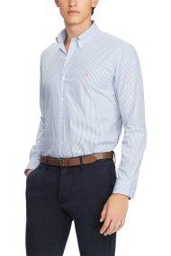 Polo Ralph Lauren ανδρικό ριγέ πουκάμισο Slim Fit Striped - 710737080005 - Γαλάζιο