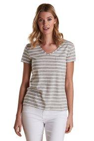 Barbour γυναικείο T-shirt κοντομάνικο με ρίγες - LML0651 - Γκρι