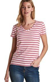 Barbour γυναικείο T-shirt κοντομάνικο με ρίγες - LML0651 - Λευκό